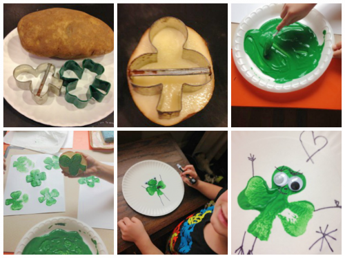 Shamrock Potato Print Stamps-Teacher Created Resources