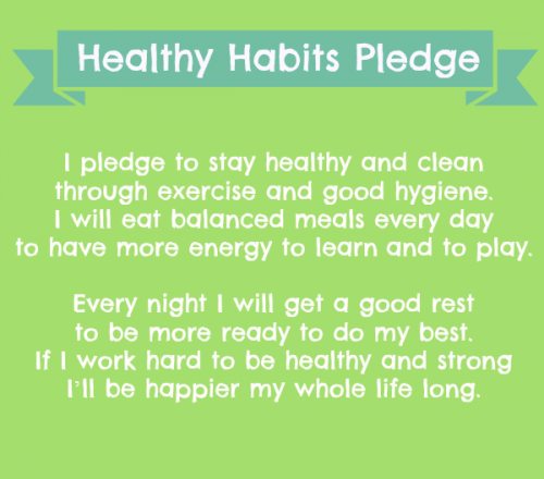 Healthy Habits Pledge_Teacher Created Resources
