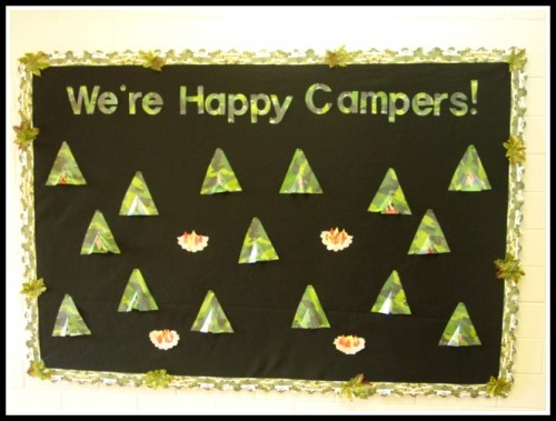 Happy Campers Bulletin Board Teacher Created Resources