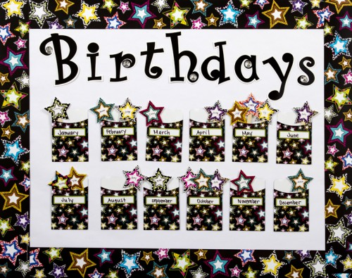 Library Pockets Birthday Bulletin Board Idea