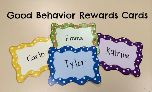 Good Behavior Rewards Cards