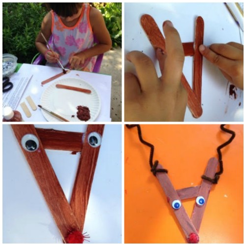 Craft Stick Reindeer Steps