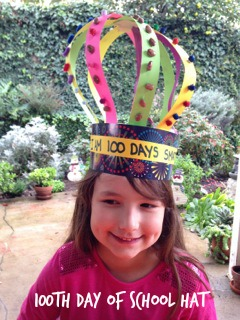 100th day of school hat 1