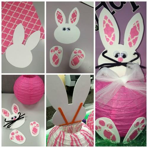 DIY Spring Decorations Paper Bunny Lantern