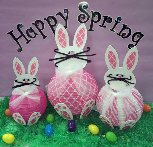 DIY paper bunny lanterns