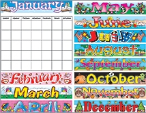 Calendar Bulletin Board Display Set