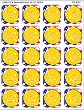 US Olympic Gold Medal Stickers
