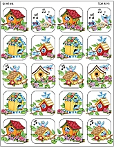 Birdhouses Stickers from Mary Engelbreit