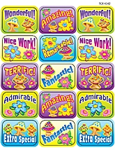 Flower Power Motivational Jumbo Stickers