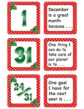 December Polka Dots Calendar Days/Story Starters Mini Pack