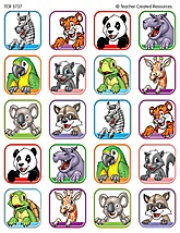 Animal Faces 1 Stickers