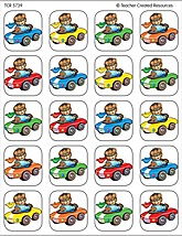 Racing Bears Stickers
