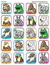 Animal Faces 2 Stickers