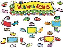 Walk With Jesus Bulletin Board Display Set