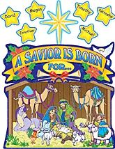 Nativity Scene Bulletin Board Display Set