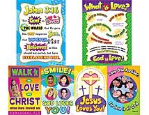 God is Love Bulletin Board Display Set