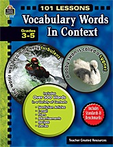 TCR8142 101 Lessons: Vocabulary Words in Context