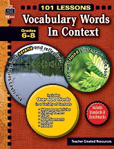 TCR8143 101 Lessons: Vocabulary Words in Context
