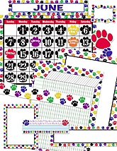 Colorful Paw Prints Set