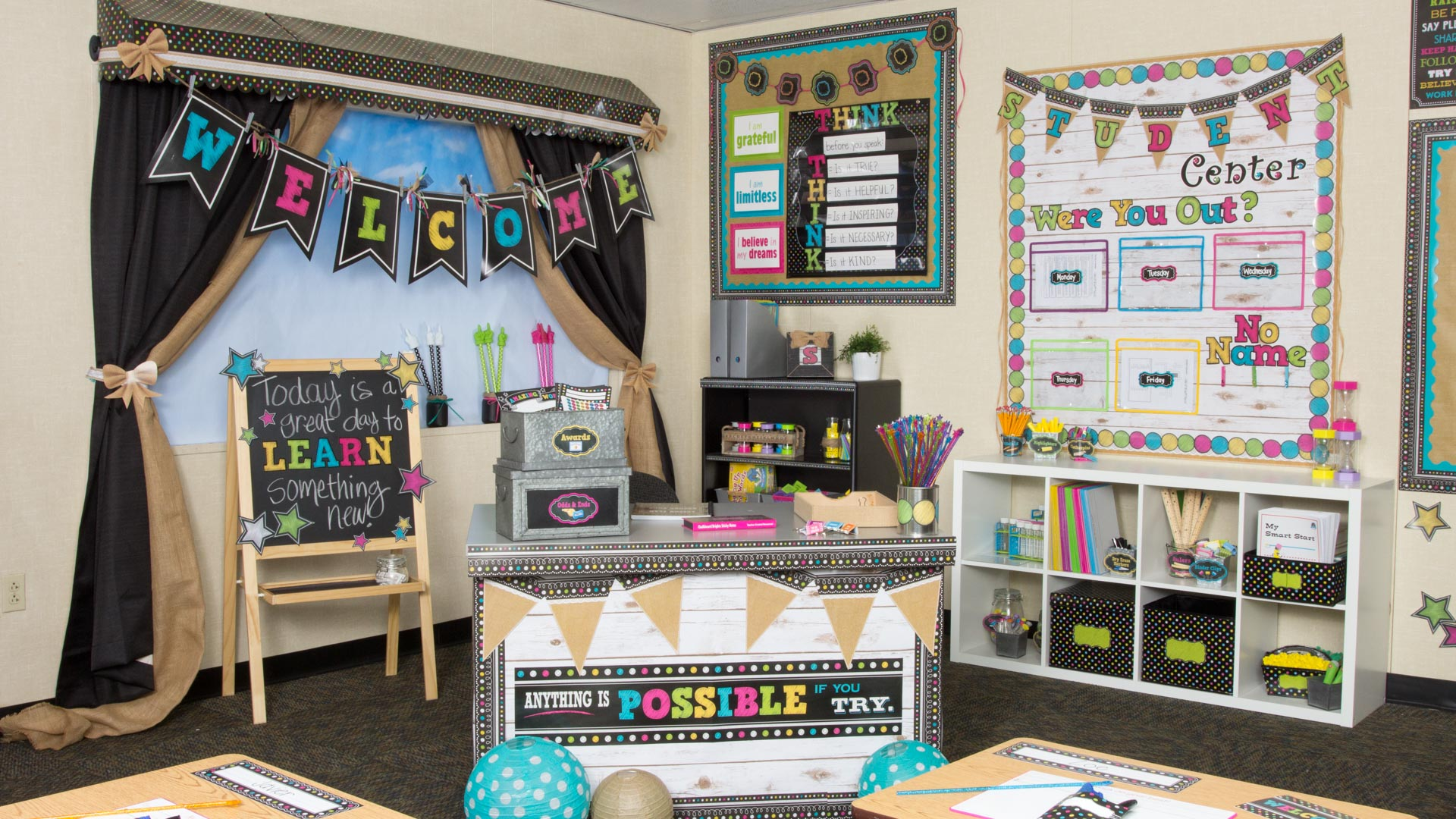 Classroom Decor Resources ~ Chalkboard brights « classroom decorations teacher
