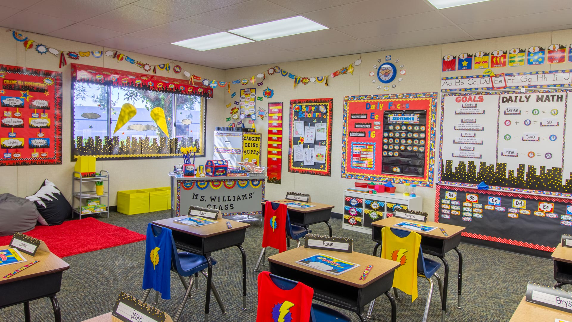 Calendar Bulletin Board Combo : Superhero « classroom decorations teacher created