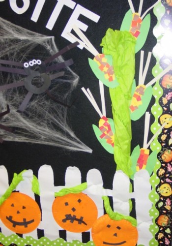Halloween Bulletin Board Close Up