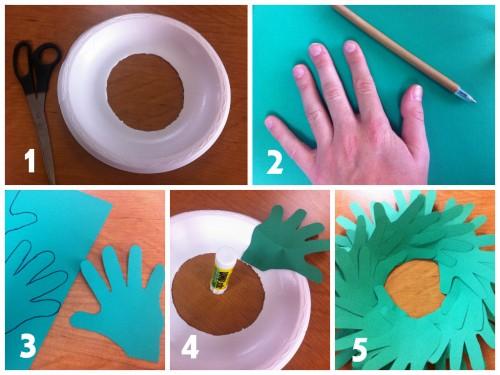 Hand Print Wreath