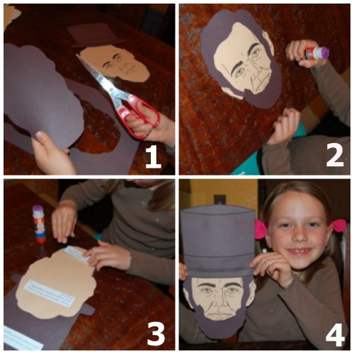 Presidents' Day: Putting Together Abraham Lincoln Project from Teacher Created Resources-3260 U.S. History Little Books