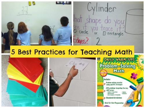 5 Best Practices for Teaching Math-TCR Collage