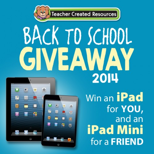 ipad giveaway 2014 Teacher Created Resources