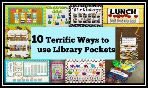 10 ways to use library pockets Teacher Created Resources
