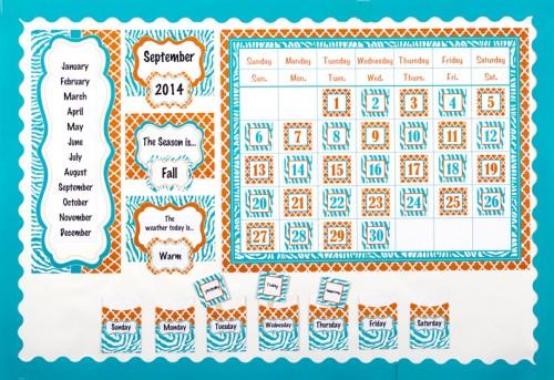 Library Pockets Classroom Calendar