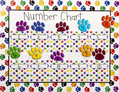 Library Pockets Number Chart Idea
