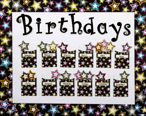Library Pockets Birthday Bulletin Board Idea