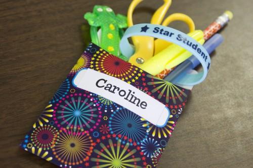 Library Pockets Student Treats Idea