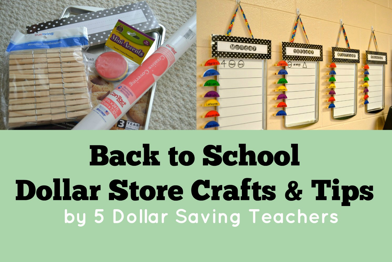 Back to school dollar store crafts tips teacher for Back to school decoration ideas for teachers