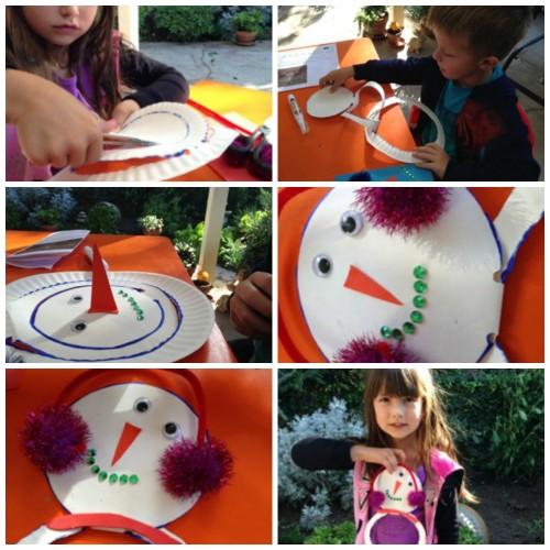 Paper Plate Snowman Steps