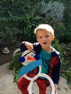 Paper Plate Snowman TCR Blog