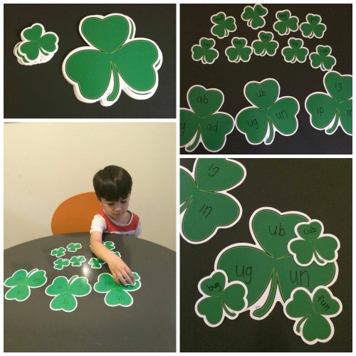 St. Patricks Day Word Families