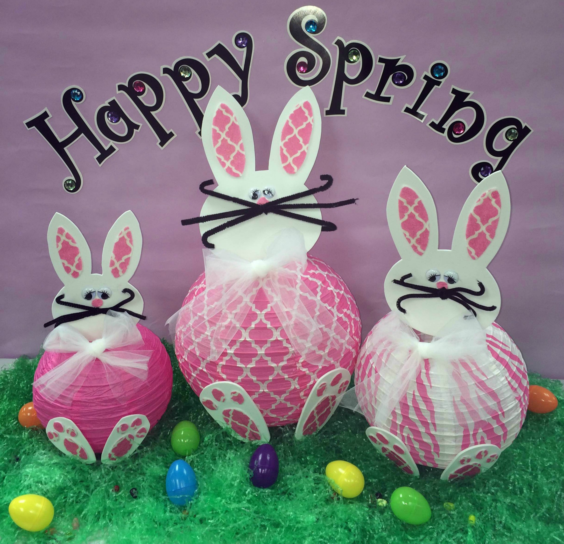 DIY Spring Decorations: Paper Bunny Lantern