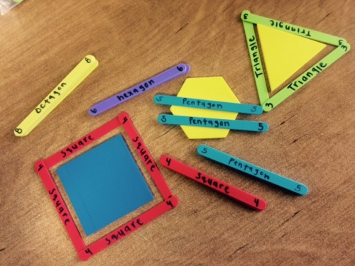 Craft Sticks Activity - Learning Shapes