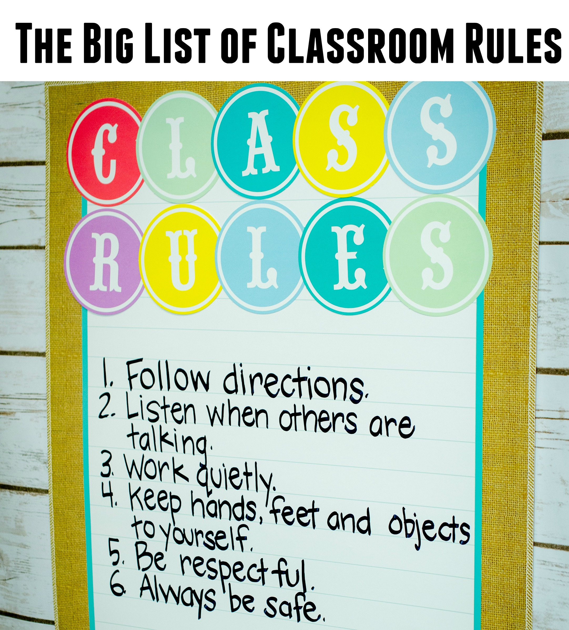 Classroom Rules Ideas ~ List of classroom rules