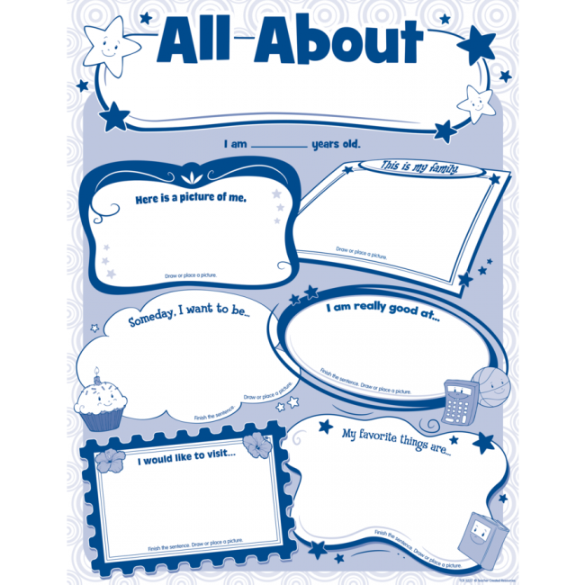 All About Me Poster-Teacher Created Resources