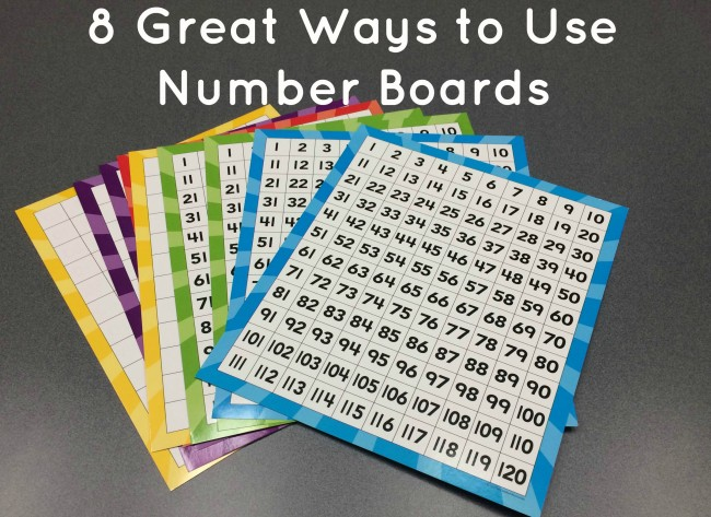 Number Boards from Teacher Created Resources