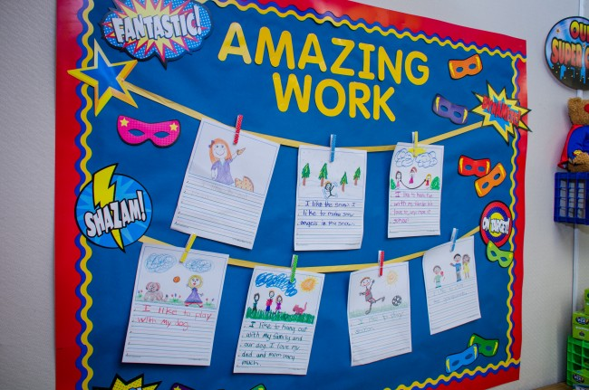 Superhero Student Work Bulletin Board