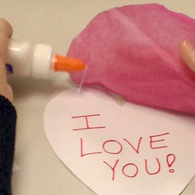 gluing hearts