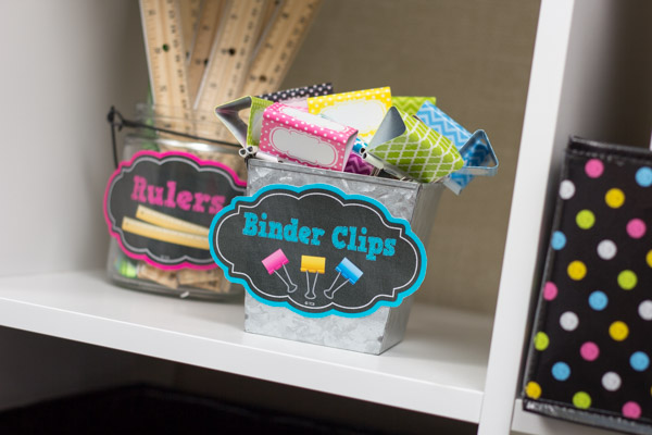 Binder Clips With Supply Labels