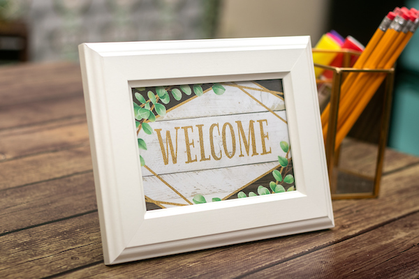Welcome Picture Frame