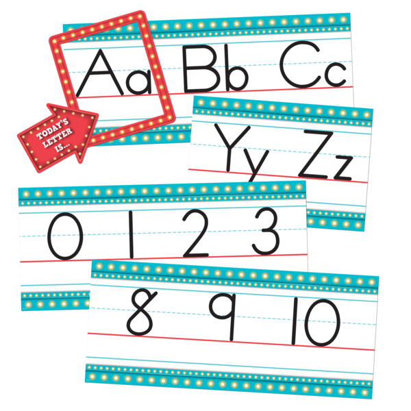 Marquee Alphabet Line Bulletin Board