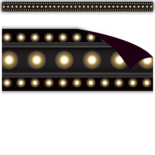 Black Marquee Magnetic Border